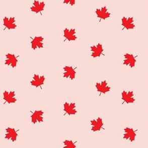 Maple leaves - pink - LAD19