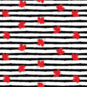 Maple leaves - black stripes - LAD19