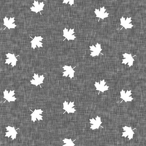 Maple leaves - grey - LAD19