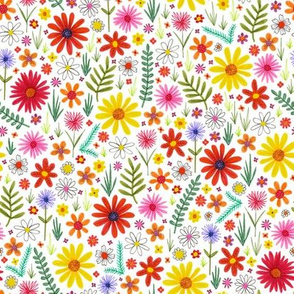 tiny colorful floral