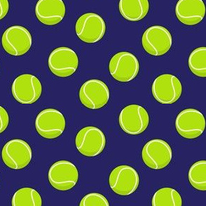 (small scale) tennis balls on blue C19BS