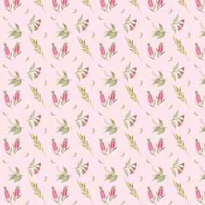 Australian Floral - blush pink, small