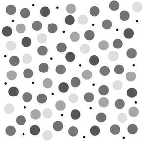 Noir Spots - white and black