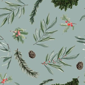 Mistletoe and Eucalyptus // Sage Green