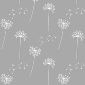 dandelions grey and white reversed