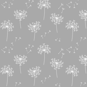 dandelions 2 for mom grey and white reversed