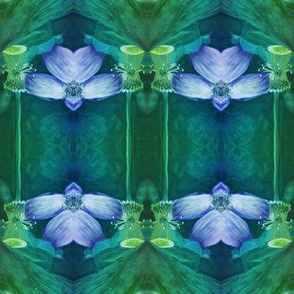 LOTUS ORCHID GEOMETRY BLUE GREEN PAYSMAGE