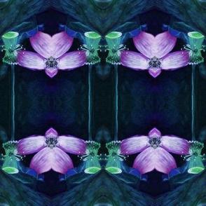 LOTUS ORCHID GEOMETRY INDIGO BLUE PURPLE PAYSMAGE