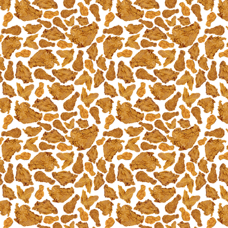 Tiny Fried Chicken fabric by sufficiency on Spoonflower - custom fabric