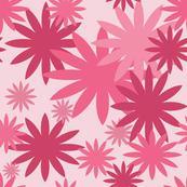 Pink Flower Bursts