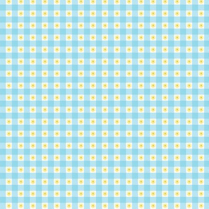small print pale blue gingham