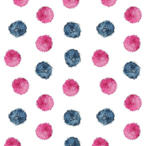 pom pom in watercolor design by #Mahsawatercolor