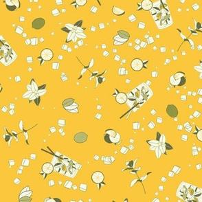 mojito ditsy on mango