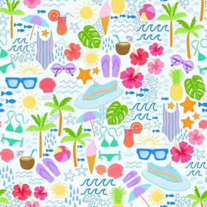 Tropical Summer // Beach Ditsy