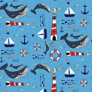 Ocean Whale Blue