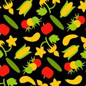 Ditsy  Summer Veggies