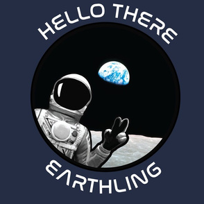 Hello There Earthling (Blue)