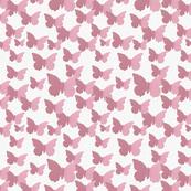 Pink Butterflies in Oil Paint-ed