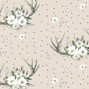 "4"" Rustic Lodge Florals // Pearl Apricot"