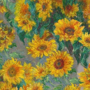"monet's sunflowers (medium 12"")"