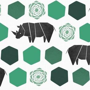 Rhinoce-Roses Green