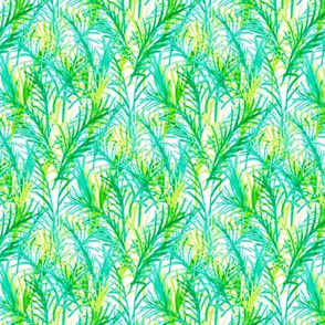 Fronds // green on white