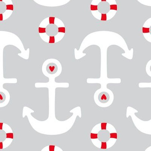 anchors on grey lg || canada day canadian july 1st
