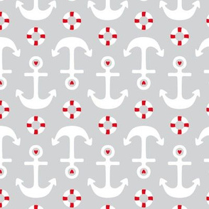 anchors on grey med || canada day canadian july 1st