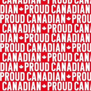 proud canadian reversed maple leafs uppercase || canada day canadian july 1st