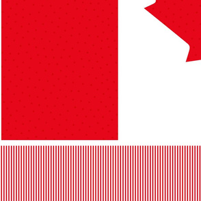 polka flag 1 yard 42x36 || canada day canadian july 1st