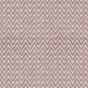 Dusty Pink and White Velvety Chevron