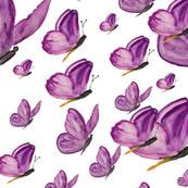 Watercolor Purple Butterfly