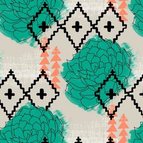 Southwest Succulent - Teal