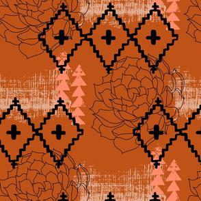 Southwest Succulent - Rust
