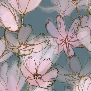 Moody Floral  Large Scale