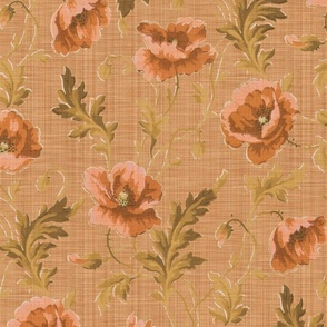 Poppies For Dorothy ~ Autumn Sunset Linen Luxe