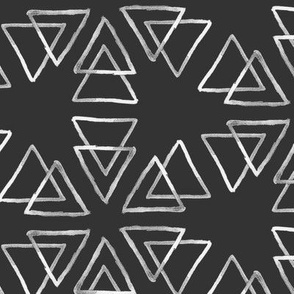 Inky Triangles // white on black