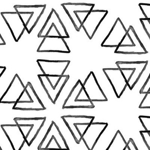 Inky Triangles // black on white