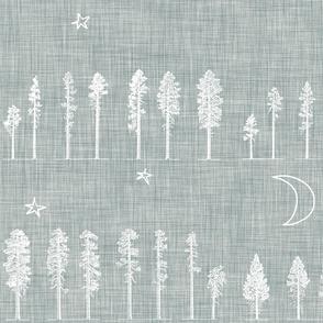 Midnight Forest ( white) JUMBO
