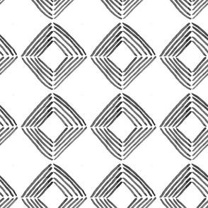 Inky Squares // black on white