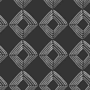 Inky Squares // white on black