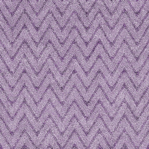 Dusty Lilac and Grape Velvet Chevron