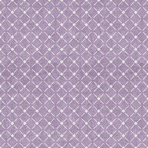 Dusty Lilac and White Velvet Lattice