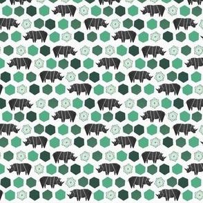 Rhinoce-Roses Tiny - Green