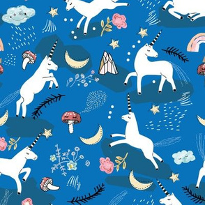 Unicorn Lullaby (blue) MED