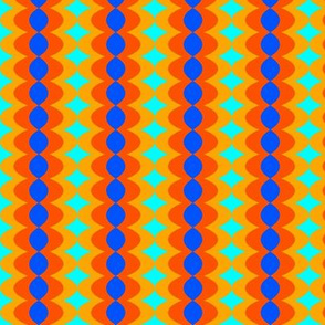 Blue and Orange Bead Stripes