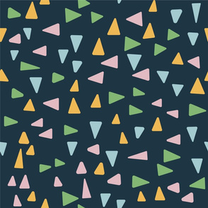 Abstract triangle mosaic colorful design