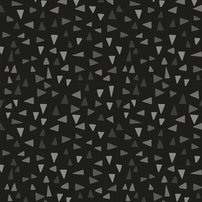 Abstract mosaic minimalism in grey and black