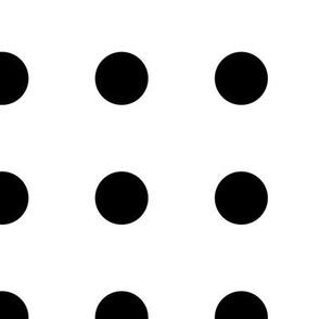 Dots - Black on White large
