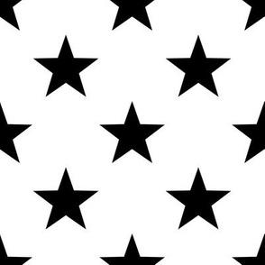 Stars - Black on White small